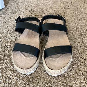 NEW Madden Girl two strap platform espadrille shoe